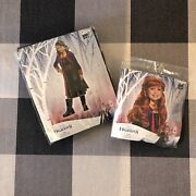 Girlsand039 Disney Frozen Anna Deluxe Halloween Costume M 7-8 With Wig New