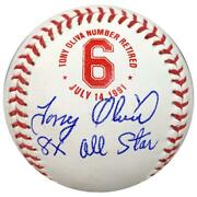 Tony Oliva Signed Inscribed 8x All Star Fan Hq Exclusive Number Retired Baseball