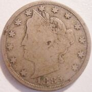 1885 Liberty Or V Nickel Key Date Fine Details On Both Faces 810