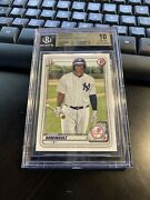 2020 Bowman 1st Jasson Dominguez Yankees Card Pristine Bgs 10 - Ships Today 📈