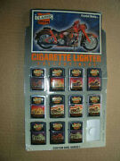 1994 Classic Iron Cigarette Lighters Store Display Stand+11 Motorcycle Lighters