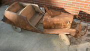 Large Antique Pedal Car Tandem Unknown Maker 1920s-30s Awesome Toy