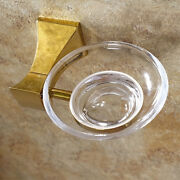 Gold Clour Bathroom Brass And Glass Soap Holder Soap Dishes Square Design