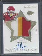 Tyreek Hill 2019 Flawless Star Swatch Jumbo 3 Color Patch On Card Auto D 1/25