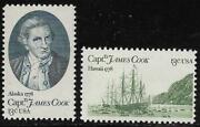 Scott 1732-33 Us Stamp 1978 13c Captain Cook And Resolution Mnh Set Of 2