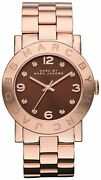Womens Marc Jacobs Mbm3167 Amy Rose Gold Dinky Watch Rrp Andpound299