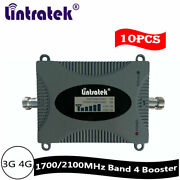 10pcs 3g 4g 1700/2100mhz Cell Phone Signal Booster Band 4 Repeater Voice 65db