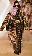 Oversize Padded Cape Coat Jacket With Flowers And Tassels It 40 Uk 10 12