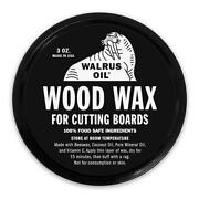Walrus Oil - Wood Wax 3oz, Food-safe Finish For Cutting Boards And Butcher Blocks