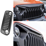 Fit For 2018-2020 Jeep Wrangler Jl Abs Black Car Front Grille Grill Cover Trim