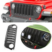 For 2018-2019 2020 Jeep Wrangler Jl Abs Black External Front Grille Grill Trim