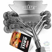 Grill Brush Bristle Free Safe Bbq Cleaning Brush Scraper 18 Stainless Steel