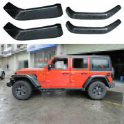 For 2018-20 Jeep Wrangler Jl Abs Carbon Fiber Wheel Eyebrow Decoration Stickers