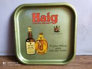 Rare Vintage Haig Scotch Whisky Advertising Tin Tray Of 50's Printed In England.