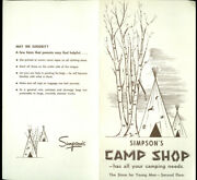Simpsonand039s Depand039t Store Camp Shop Brochure