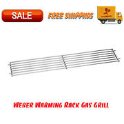 Weber Warming Rack Gas Grill Replacement Grilling Accessory Cooking Bbq Steel