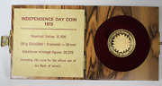 Israel 1975 Independence Day 500 Lira Gold Proof Coin With Box And Coa