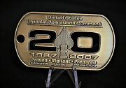 Ussocom U.s. Special Operations Command 20th Anniversary Coin 1987-2007 Seal