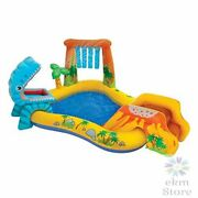 Dinosaur Inflatable Play Center 98in X 75in X 43in Ages 2+ Palm Tree Sprayer