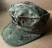 Us Navy Petty Officer 2nd Class Type Iii Woodland Digital Camo Hat Size 7