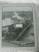 Bando Railroad Steam Locomotive 7626 On Turntable At Roundhouse Bandw Photo 11x14