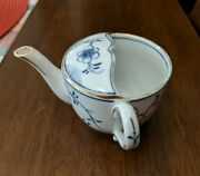 Vintage Invalid Feeder Porcelain China Pap Boat Cup Blue And White