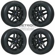 17 Ford Fusion Gloss Black Wheels Rims And Tires Oem Set 4 2013-2016 3957
