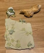 Collection Of Frog Collectibles - Carving, Wall Hanging, And Snowball Figurine