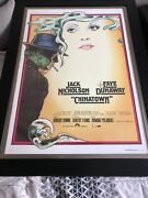 Chinatown Signed And Framed Movie Poster W/coa