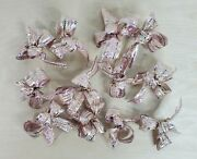 12 Shiny Bows For Chandeliers Christmas Trees Decoration 4andrdquo Size Coral Color