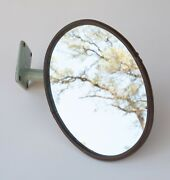 Antique Bolt On Telescoping Mirror S4r-2 Oval Partially Brass Truck 1920s 7x5