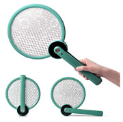 Electric Bug Zapper Fly Swatter Mosquito Killer W 3 Layers Foldable Rechargeable
