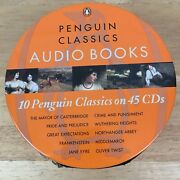 Penguin Classics Audio Books Ten Books On 45 Cds Wuthering Height Oliver Twist +