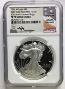 2016 W 2019silver Eagle Mercanti Signed West Point Mint Hoard Pf70 30th Anniv.