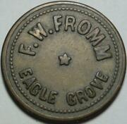 1935 Eagle Grove Iowa Good For 5andcent In Trade F.w. Fromm Billiards Pool Hall Token