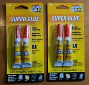 Lot Of 2 Original Super Glue Tube 2-pack For Metal Wood Rubber And Plastic