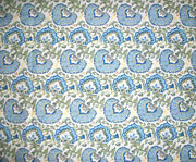 Longaberger Rare Retired Earth And Sky Floral Fabric-half Yard- Shop Store Today