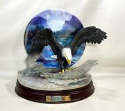 Bradford Exchange On The Mark Eagle Force Of Nature Statue Plate Bill Wieger