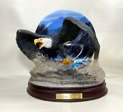 Bradford Exchange Silent Strike Eagle Force Of Nature Statue Plate Bill Wieger