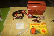 Nos 1960s 1970s Highway Emergency Kit Ford Dodge Chevy Amc 6 Items Fix A Flat