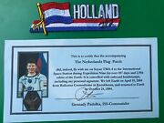 Soyuz Tma-4/iss-9 Flown Holland Flag Patch,a.kuipers And G.padalka Signed