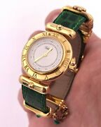 Tabbah Beret Solid 18k Yellow Gold And Plated 925 Silver Ladies 22mm Quartz Watch
