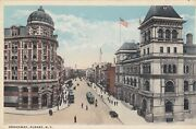 Vintage Postcard New York State Broadway Albany Posted 1919