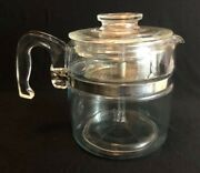Vintage Pyrex All Glass Percolator Coffee Maker 7756b 6cup As Is