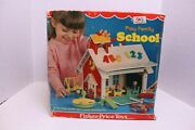 Vintage Fisher-price Little People 923 Play Family School Near Complete W/ Box