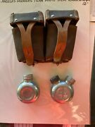 Vintage Soviet Army Ammo Double Pouch And Oil Can Bottles