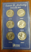 Littleton 1979 And 1980 P/d/s Uncirculated Susan B. Anthony Dollars