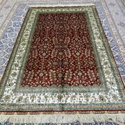 Yilong 5and039x8and039 Red All-over Handmade Silk Carpet Antistatic Oriental Rug 359b