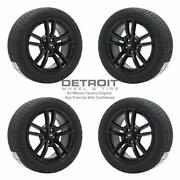 18 Ford Mustang Gloss Black Wheels Rims And Tires Oem Set 4 2015-2019 10030