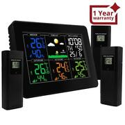 Digital Wireless Weather Station Indoor Outdoor Thermometer Hygrometer With Alar